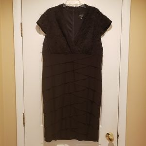 Xscape Black Bodycon Midi Dress Size 18W